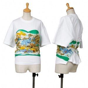 Comme Des Garçons white corset shirt